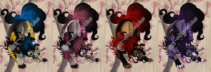 Foo Dog Adoptables set2 by Squiggy-Adoptables