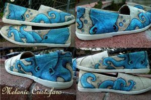 Octopus shoe design. by Melanie02