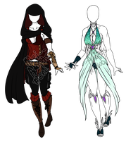 Outfit Set One - 2/2 OPEN by Mei--Adopts