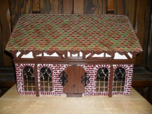Gothic-ish Dollhouse 1:24 WIP 13: Exterior DONE by kayanah