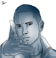 Eminem Face by Thaismorel