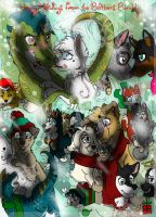 .:Happy Holidays From the Bolteens Bunch!:. COLLAB by Wolf-Chalk