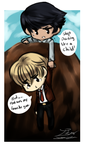 Cliff Rescue.:Chibi Doodle:. by itsmar