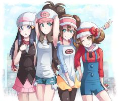 pokemon girls xD by majigoma