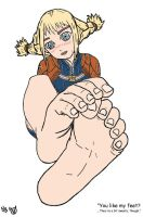Penelo's Feet Colored by Got-You-Colored