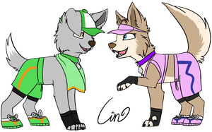 Rocky and Tundra RQ by Cinderkittyz