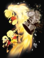 Upward Punching FLAME MOTION by CE-Rap