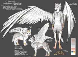 Unique Angel Canine Adopt! [CLOSED] by MangaKidArt