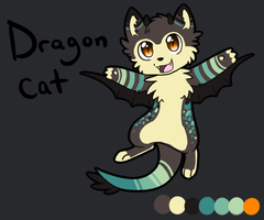 DragonCat Adoptable Auction :SOLD: by Darkaiya