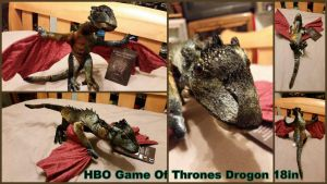 HBO Game Of Thrones Drogon 18in by Vesperwolfy87
