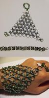 Chainmaille Gauntlet w/Ring And Bracelet by Luherc