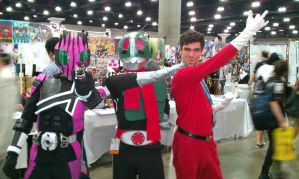 me and kamen riders at anime expo 2012 by V1EWT1FUL