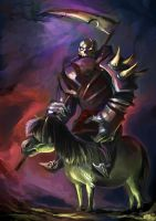 Death, the Fourth Horseman of the Apocalypse by OakKs