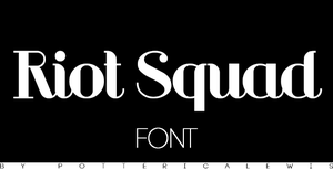 +Font 004: Riot Squad by PottericaLewis