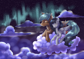 Commission - Under the aurorae by Nalenthi