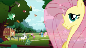 Fluttershy's Cottage Wallpaper by RDbrony16