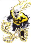 Yellow Lantern Ghost Rider-Color by LangleyEffect