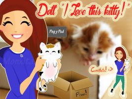 Doll I Love this kitty Bymonxita244 png by monxita244