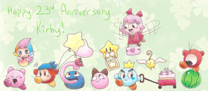 Kirby 23rd Anniversary by Chenanigans