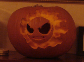 Gastly Pumpkin by Bropius