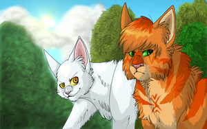 Lionheart and Whitestorm by Hawktalon-2