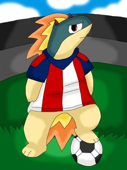 Soccer player Quilava by Cuperthekiller