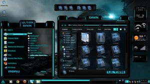 Blue Theme Ultra Dark Theme Windows 7 by ToxicoSM