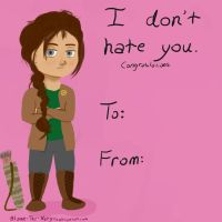 Happy Valentine's Day from Katniss Everdeen! by Blame-The-Nargles