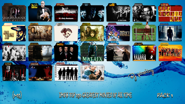 IMDB Top 250 Greatest Movies Of All Time-Pack 1 by gterritory