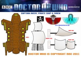 Doctor Who - Pirate Ship by mikedaws