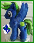 mlp plushie commission CIRCUIT BREAKER completed by CINNAMON-STITCH