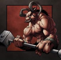 Minotaur  Colors by thespyder