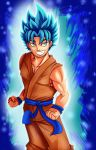 Super Saiyan Blue by KingPuddinArt
