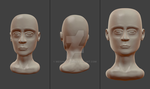 Sculpt Sketch 03 - First human bust by MeshWeaver