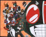 Kamen Riders by sleepinartist