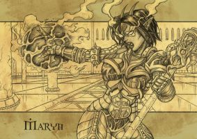 Your Character in a Fantasy Armor Commision 7 by Talthec