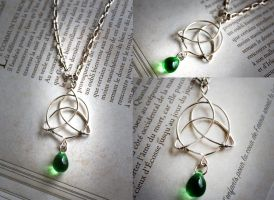 Celtic Trinity Knot Pendant by huginswarrior
