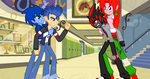 Sonic and Knuckles Stop Shadow and Flash Sentry by CyrilSmith