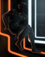 Rinzler, sitting by Nissun