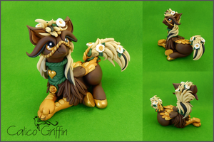 Custom: Hippogriff - polymer clay sculpture by CalicoGriffin