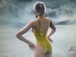 Glorya's Swimsuit (Back) by Firedawn4