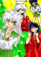 Inuyasha and kagome:Colored by Animecraz