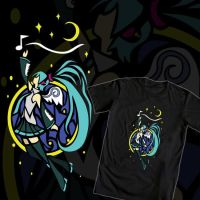 Angel Miku (Hatsune Miku T-Shirt Design #1) by TheKohakuDragon
