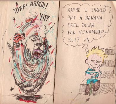 Calvin and Hobbes meet Venom page 7 and 8 by gollum42
