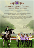 Lavender Field Stables Poster by SweetLittleVampire