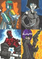 Commissioned Sketch Cards 06 by JoeHoganArt