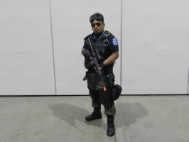 LevelUp Expo 2014 Resident Evil BSAA operator by Demon-Lord-Cosplay