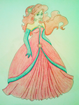 Christmas Ariel - Crayola Crayon Coloring by KiaraJoy