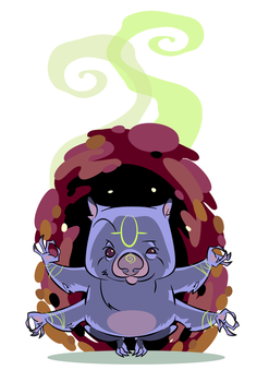 The Great Wombat Totem by mutleyjames