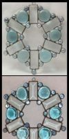 Custom stained glass snowflake by Lokichica
